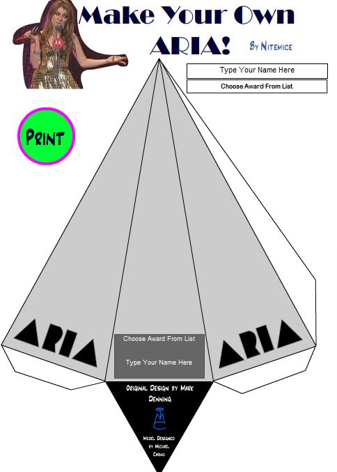 DIY Customisable ARIA Award -