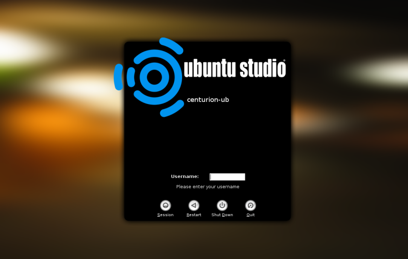 UbuntuStudio GDM
