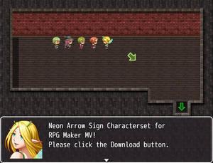 Neon Arrow Sign Characterset ZIP (RPG Maker MV)