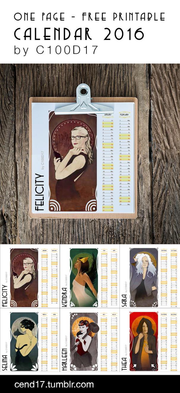 Calendar2016-byC100D17 by C100D17