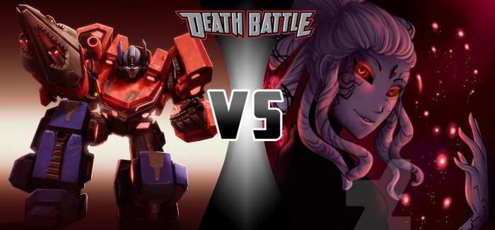 Optimus Prime vs. Salem|Light vs Darkness