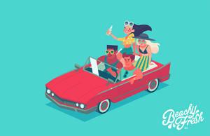 beachy teens (animated) by genicecream