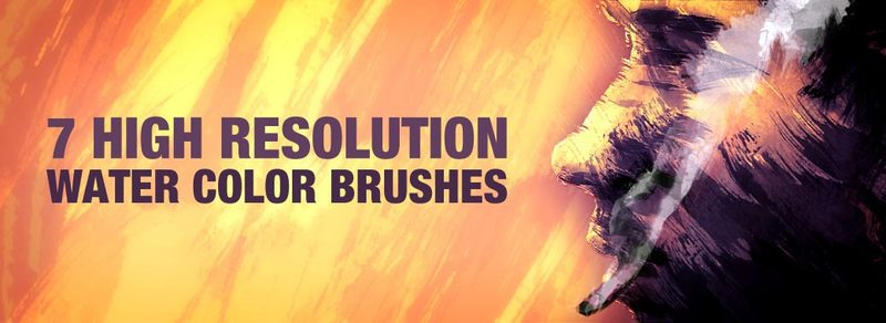 7 High Resolution Water Color Brushes