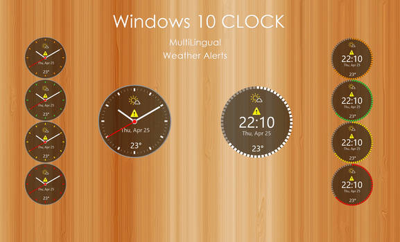 Windows 10 CLOCK (UPDATED 27.08.2019) by xxenium