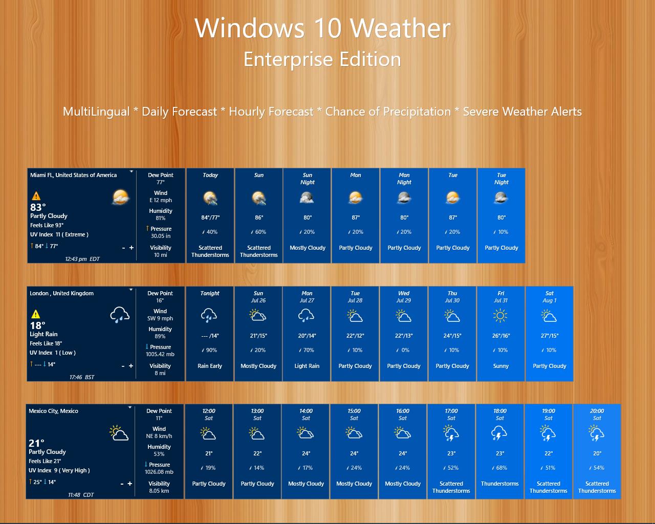 Windows 10 Weather Enterprise(UPDATED 2-AUG-2020)