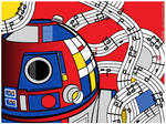 StarWarsPopArt - Abstract R2D2