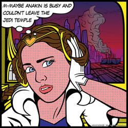 Star Wars PopArt: Padme Waiting