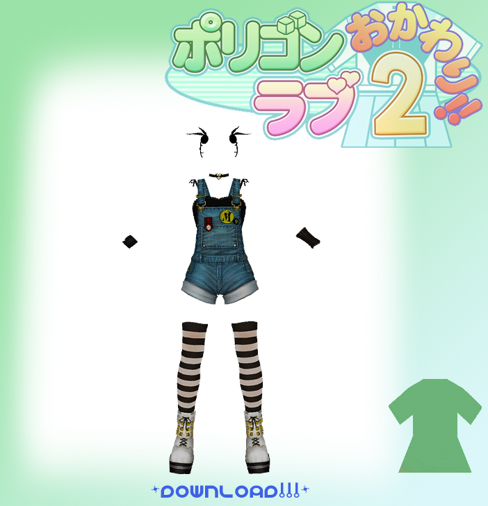 MMD Cute Overalls Outfit by TheNamelessHolocaust