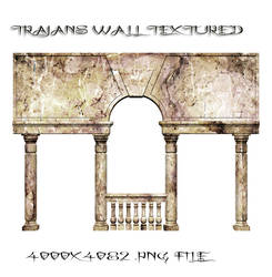 Trajans Wall Textured PNG by dying-soul-stock