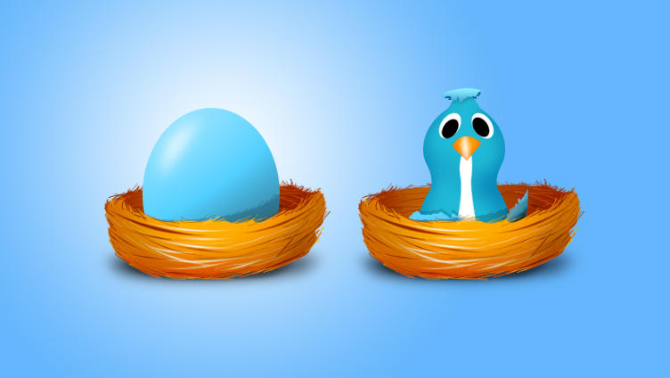 twitter egg and bird by nishad2m8