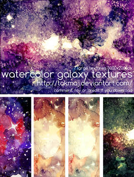watercolor galaxy textures