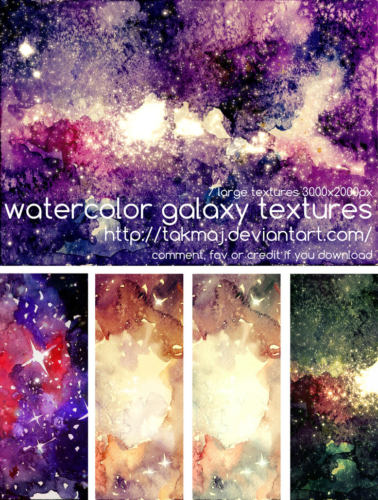 watercolor galaxy textures by takmaj