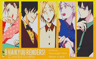 Renders Haikyuu! by ZombieSweetx