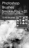 Shades SmokeFog v.01 HD Photoshop Brushes