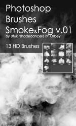 Shades SmokeFog v.01 HD Photoshop Brushes