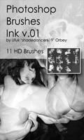 Shades Inks v.01 HD Photoshop Brushes