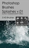 Shades Splashes v.01 HD Photoshop Brushes