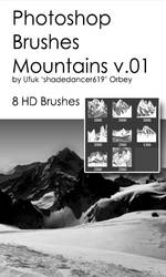 Shades Mountains v.01 HD Photoshop Brushes by shadedancer619