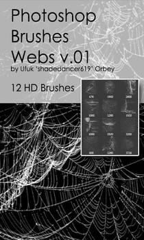 Shades Webs v.01 HD Photoshop Brushes