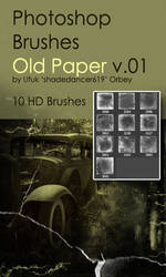 Shades Old Paper v.01 HD Photoshop Brushes by shadedancer619