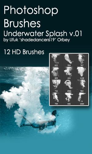 Shades Underwater Splash v.01 HD Photoshop Brushes