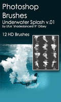 Shades Underwater Splash v.01 HD Photoshop Brushes