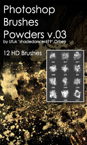 Shades Powders v.03 HD Photoshop Brushes