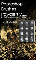 Shades Powders v.03 HD Photoshop Brushes