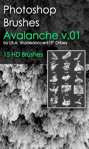 Shades Avalanche v.01 HD Photoshop Brushes