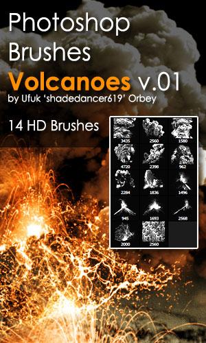 Shades Volcanoes v.01 HD Photoshop Brushes