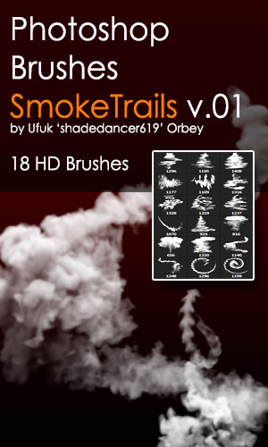 Shades SmokeTrails v.01 HD Photoshop Brushes