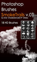 Shades SmokeTrails v.01 HD Photoshop Brushes
