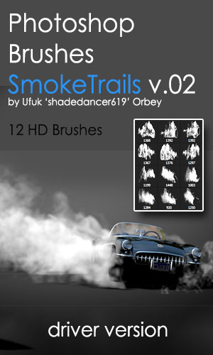 Shades SmokeTrails v.02 HD Photoshop Brushes by shadedancer619