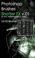 Shades ShatterFX v.01 HD Photoshop Brushes