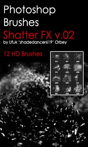 Shades ShatterFX v.02 HD Photoshop Brushes by shadedancer619