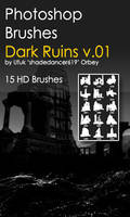 Shades Dark Ruins v.01 HD Photoshop Brushes