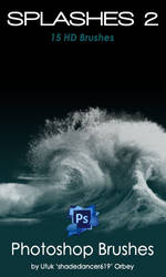Shades Splashes v.02 HD Photoshop Brushes by shadedancer619