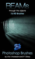 Shades Beams v.01 HD Photoshop Brushes