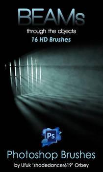Shades Beams v.01 HD Photoshop Brushes