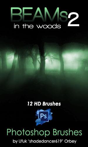 Shades Beams v.02 HD Photoshop Brushes