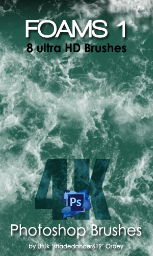 Shades Foams v.01 Ultra HD Photoshop Brushes by shadedancer619