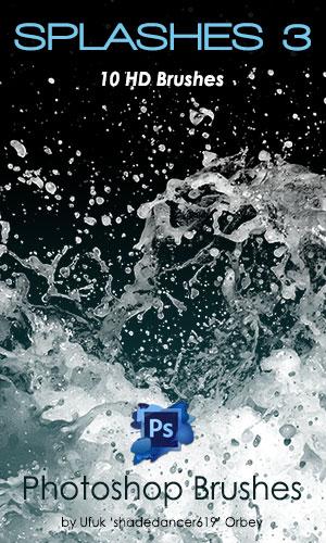 Shades Splashes v.03 HD Photoshop Brushes by shadedancer619