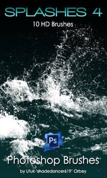 Shades SPLASHES 4 BRUSHES for Photoshop