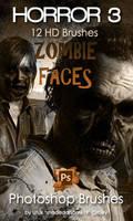 Zombie Faces  Photoshop Brushes