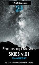 Shades Skies 01 Photoshop Brushes by shadedancer619