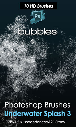 Underwater Bubbles Photoshop Brushes