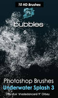 Underwater Bubbles Photoshop Brushes