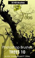 Dry Trees Photoshop Brushes