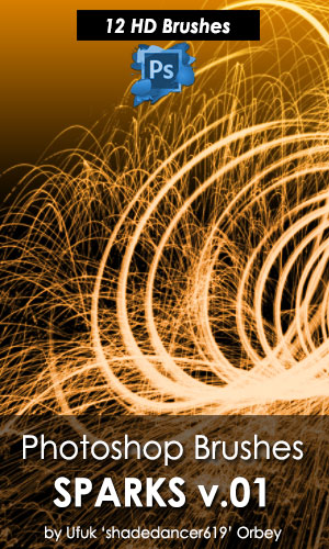 Sparks Photoshop Brushes by shadedancer619