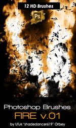 Shades Fire 01 Photoshop Brushes by shadedancer619